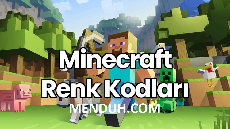 Minecraft Renk kodları