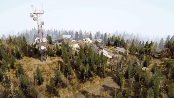 SpinTires Mudrunner Orman Haritası Modu